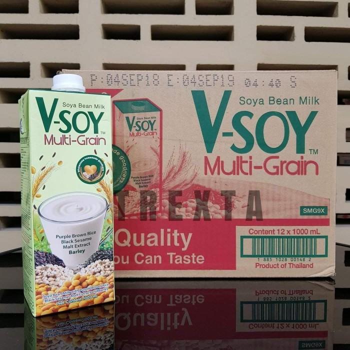 Foto Produk Vsoy Multigrain 1 Liter / V-soy Multi-grain - 1 Karton dari Komplett Store
