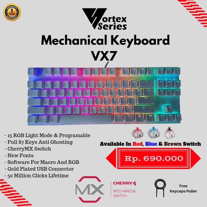 Foto Produk VortexSeries Mechanical Keyboard VX7 (Tenkeyless) - Hitam dari VortexSeries