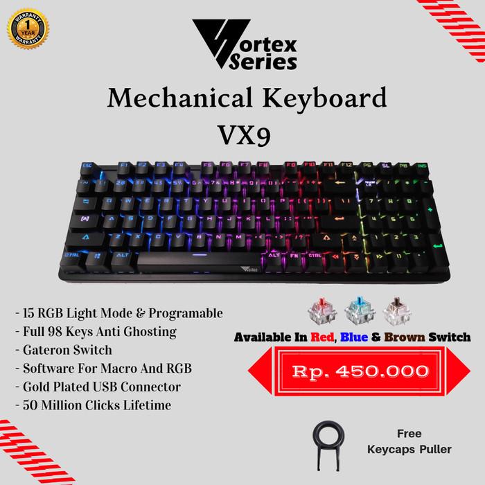 Foto Produk VortexSeries Mechanical Keyboard VX9 - Cokelat dari VortexSeries