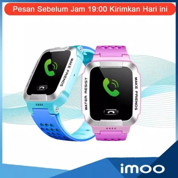 Foto Produk imoo Y1 Smartwatch Waterproof Watch Phone Garansi Resmi 1 Tahun - Biru dari jaya dan sukses