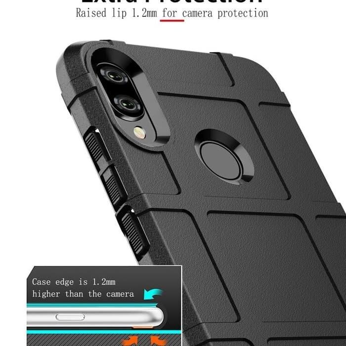 Foto Produk Shield Case Xiaomi Redmi Note 7 - casing cover armor redmi note 7 pro - Hitam dari i-case