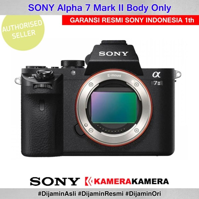 Kamera mirrorless sony alpha 7 mark ii body only - garansi resmi sony