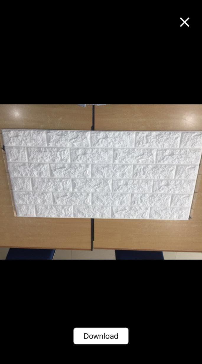 Jual Best Seller Wallpaper Dinding Foam Brick 3D Putih Jakarta Selatan Permatani