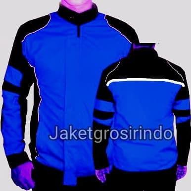 Foto Produk jaket polos biru motor - Biru, M dari jaketgrosirindo