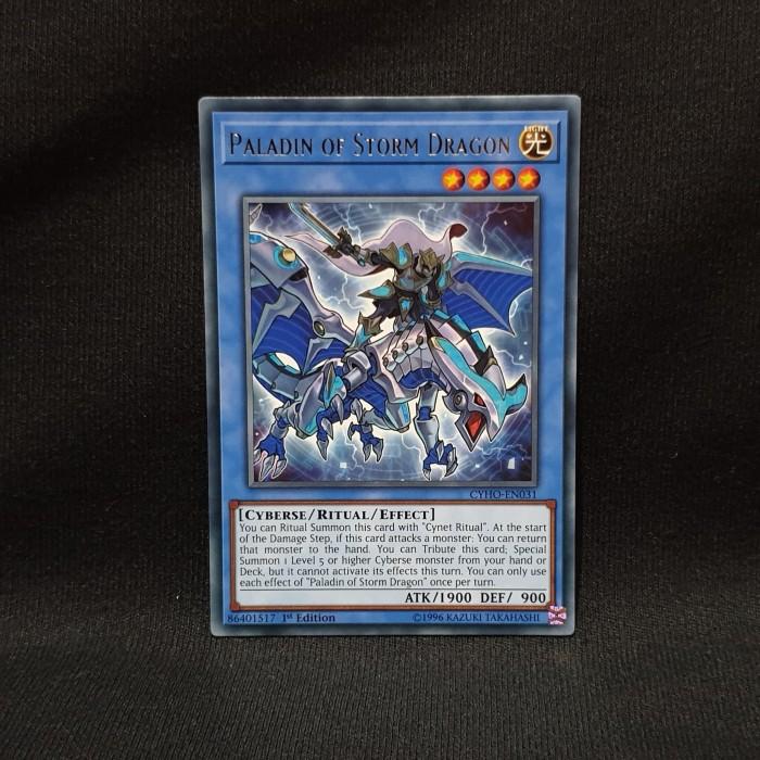 - Rare CYHO-EN031 1st Edition 3 x Paladin of Storm Dragon