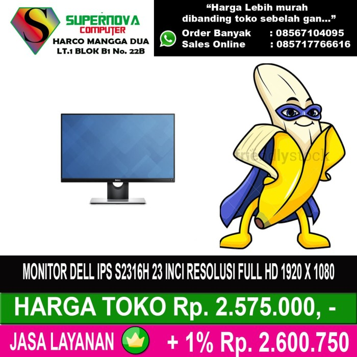 harga Monitor dell ips s2316h 23 inci resolusi full hd 1920 x 1080 Tokopedia.com