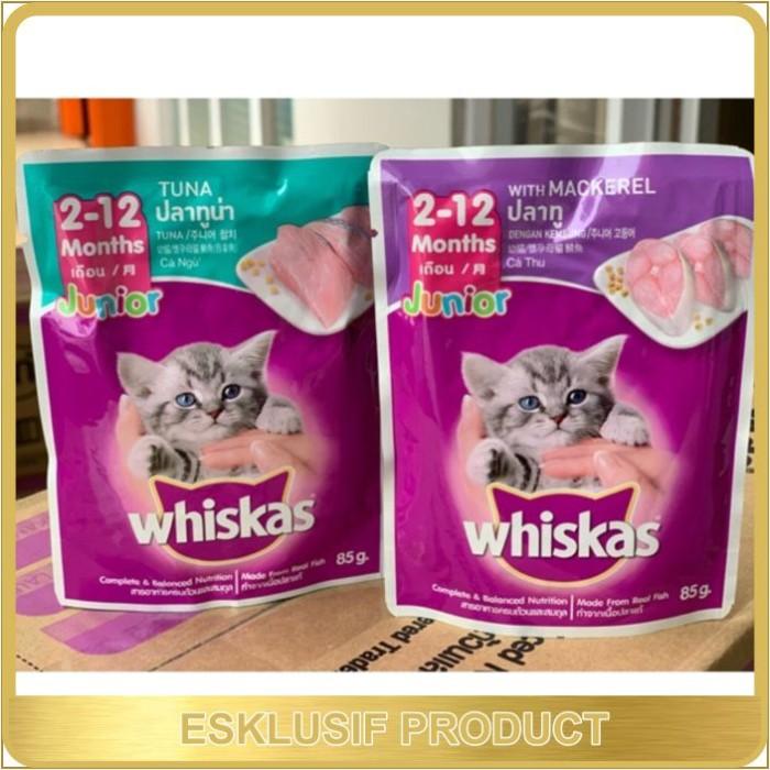 Jual Whiskas Junior Makanan Anak Kucing Usia 2 12 Bulan Jakarta