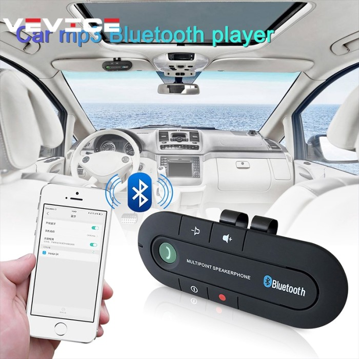 Wireless Bluetooth Handsfree Car Auto Kit Speaker Phone Visor for MP3 Phone CHY