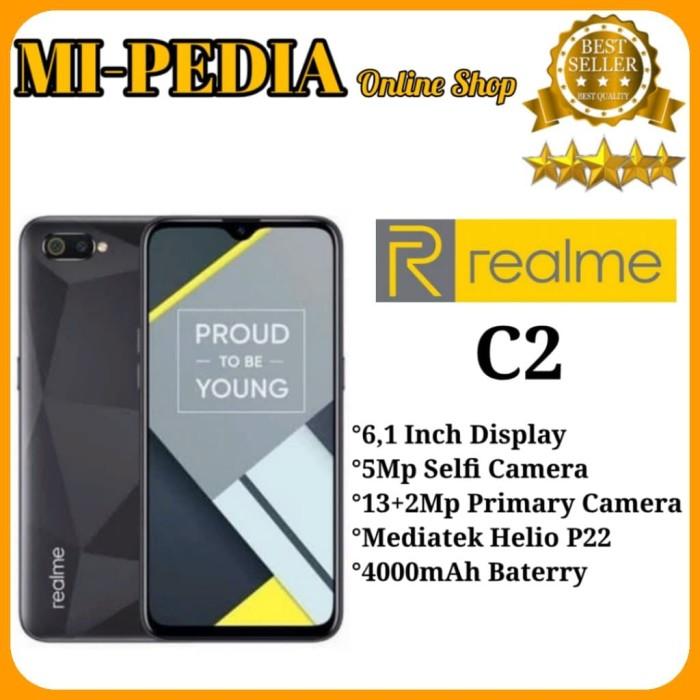 harga Realme c2 [3/32] ram 3gb internal 32gb garansi resmi oppo - hitam Tokopedia.com