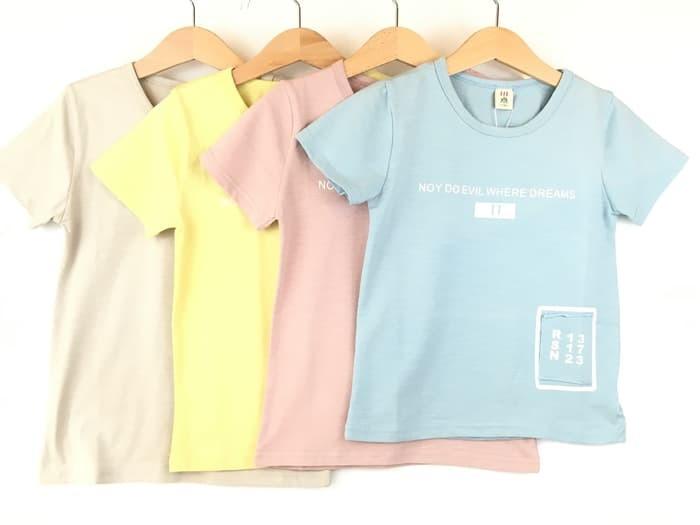 Foto Produk Kaos Anak Lengan Pendek Import Murah Pakaian Baju Anak Laki-Laki 012 - Biru, 90 dari onlinebaby.id Official