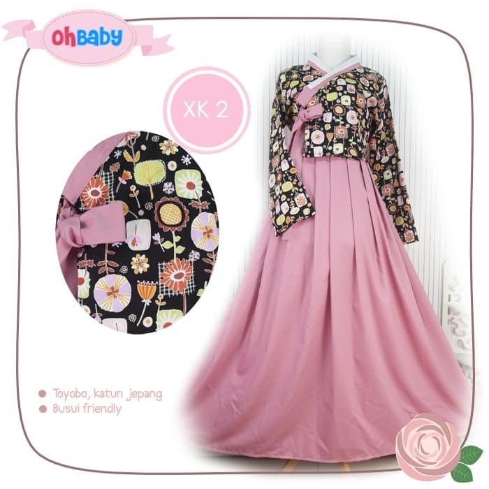 Foto Produk Baju Muslim / Muslimah Wanita /Gamis Syari /Hijab Hanbok Ohbaby XK2 dari Pernik Asri