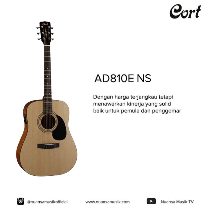 harga Cort ad810e ns acoustic electric guitars Tokopedia.com