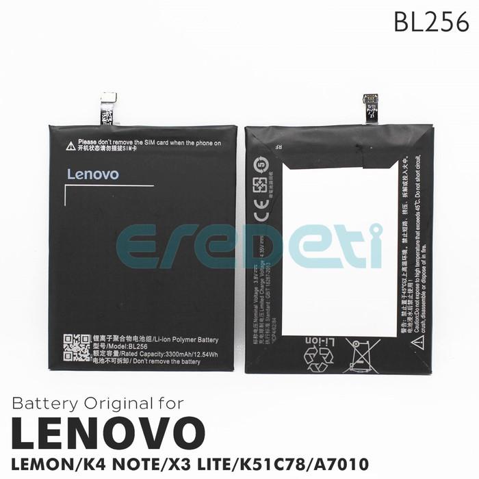 Jual BATTERY LENOVO LEMON K4 NOTE K4NOTE X3 LITE K51C78 A7010 BL256 -  Jakarta Barat - EREDETI | Tokopedia