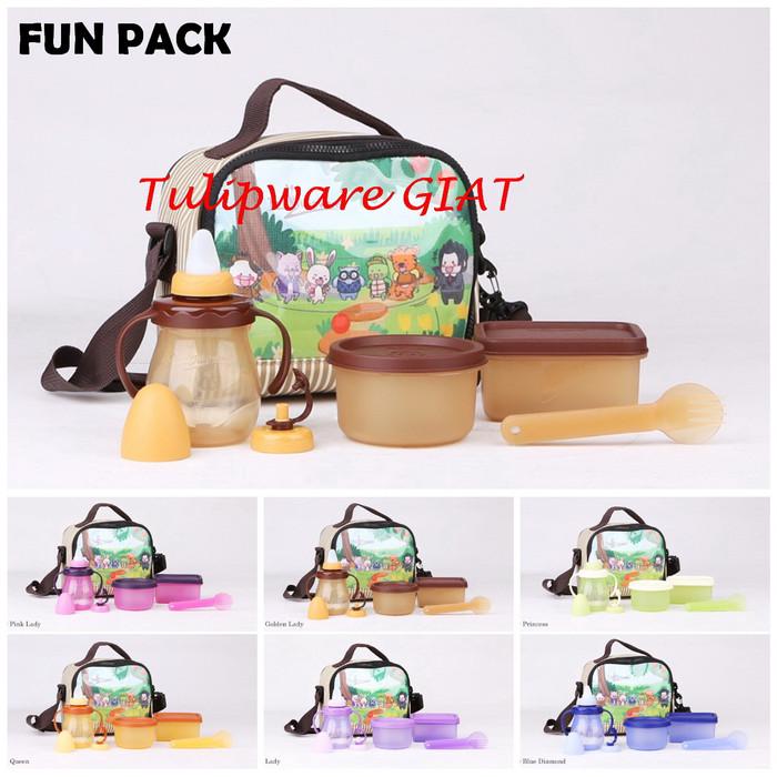 Foto Produk Set Makan Bayi Dan Dot GRATIS Tas - Fun Pack Twin Tulipware dari TULIPWARE collection