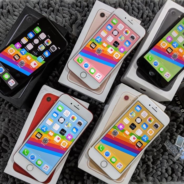Foto Produk Iphone 7 128gb fullset original no rekon - BLACKMATTE dari jupegirls