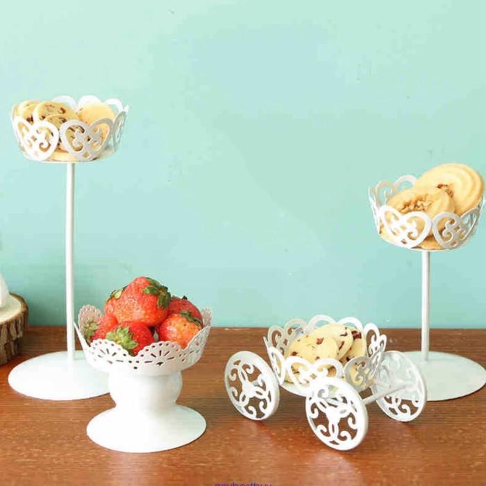 1pc Vintage Metal Wedding Cupcake Stand Cake Dessert Holder Display Party Decor