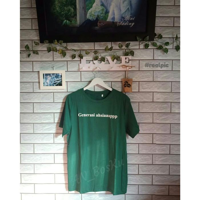 Jual Kaos Sablon Kata-kata Kekinian Generasi Ashiaapp Cotton Combed 30s -  Kab. Bandung Barat - Kaos_AN_BosKu | Tokopedia
