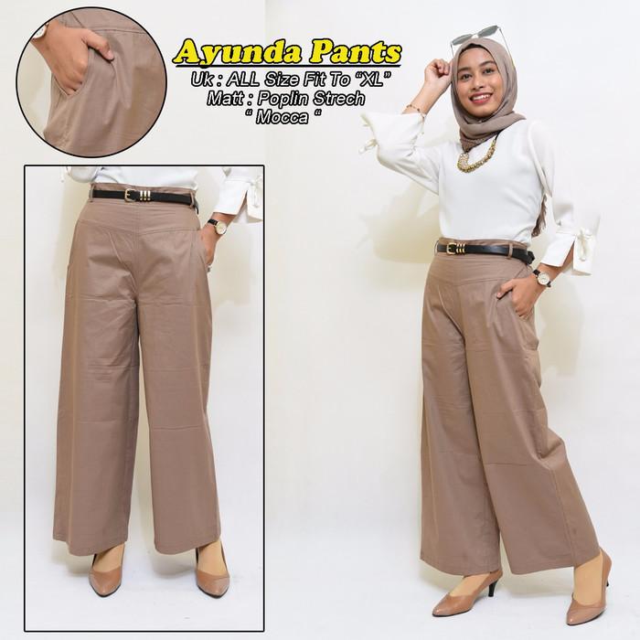 Foto Produk AYUNDA KULOT Celana Panjang Kulot Wanita Premium Basic Pants ModeORI B dari Toko Anfasha