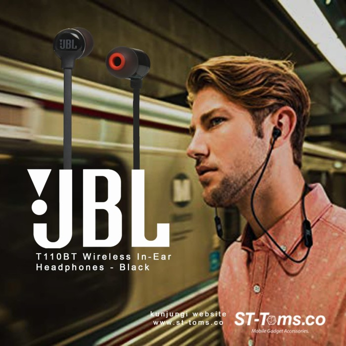 Jbl t110 bt / t110bt wireless in-ear headphones - black