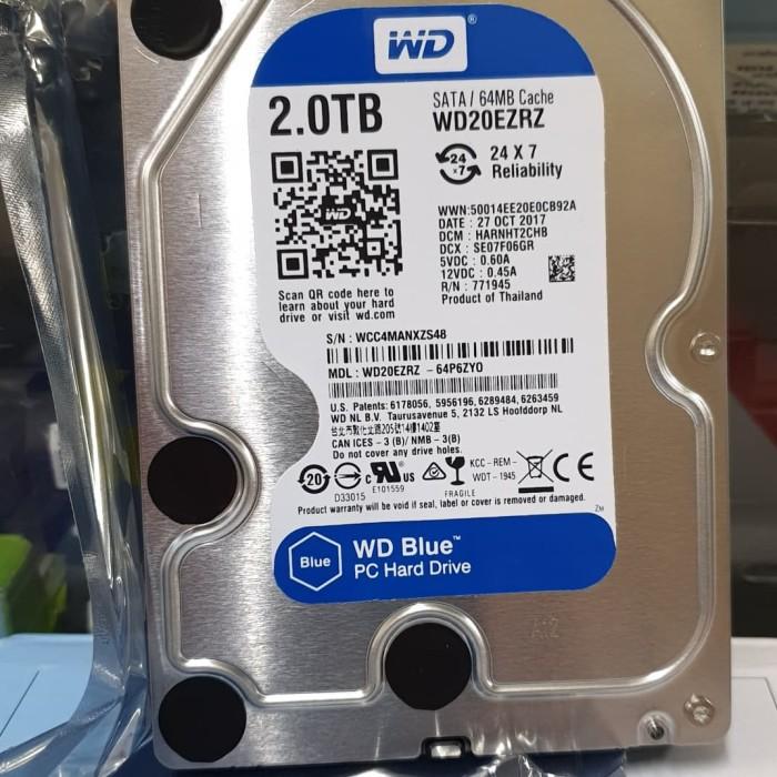 Foto Produk HARDDISK HDD WD 2TB BLUE NEW ORI dari Pracom Computer