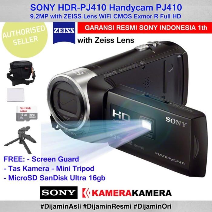 harga Camcorder sony handycam sony pj-410 pj410 +sg +mcrsd16 +tas +minitrpd Tokopedia.com