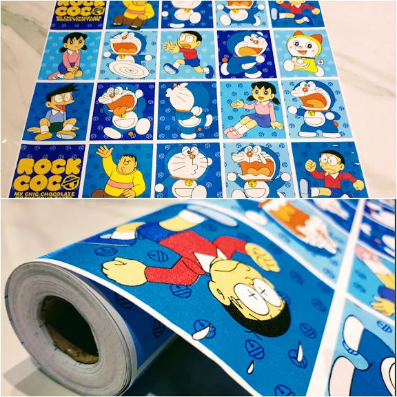 Jual Wallpaper Siker Dinding Aneka Gambar Doraemon Kotak Biru 10m