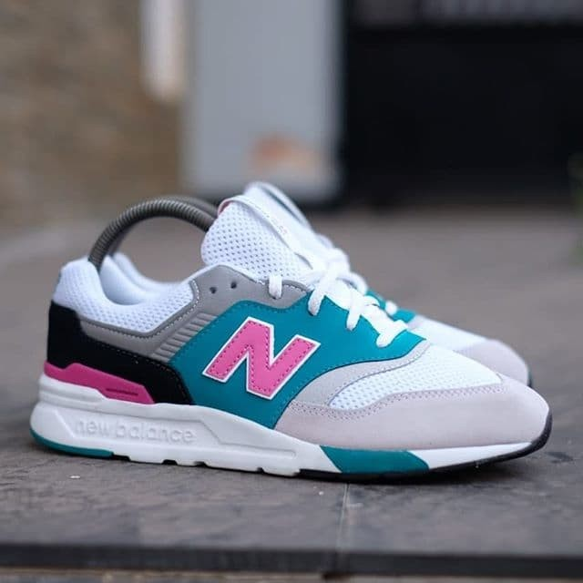 New Balance Women/'s 997H Fashion Sneakers White /& Pink NEW in BOX