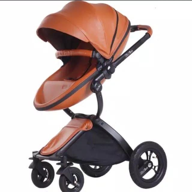 Foto Produk Stroller Mewah Kulit Bukan Mima Xari Carry Cot Bassinet dari babymazic