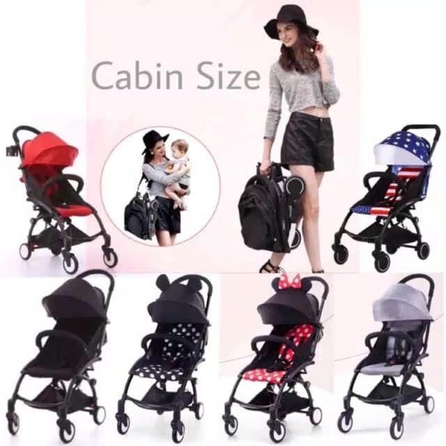 Foto Produk Stroller Babygrace Kereta Dorong Bayi Baby Frame Hitam Cabin Size Trav dari babymazic