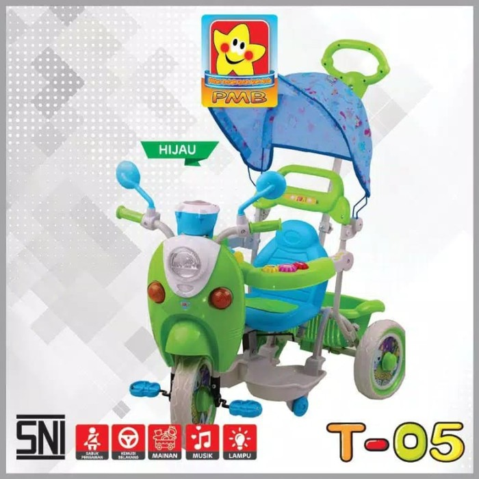 Foto Produk Sepeda Anak Tricycle Roda Tiga Scoopy PMB T-05 dari babymazic