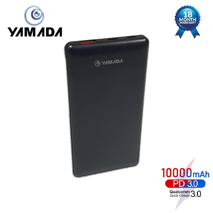 harga Yamada powerbank 10000 mah quick charge 3.0 + pd dual input - hitam Tokopedia.com
