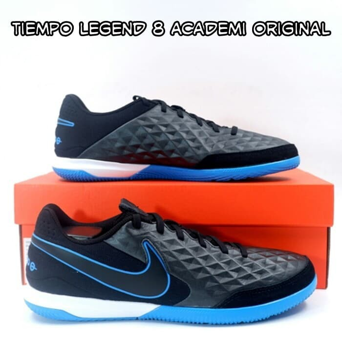 Jual Sepatu Futsal Nike Tiempo Legend 8 Academi Hitam Biru Ic