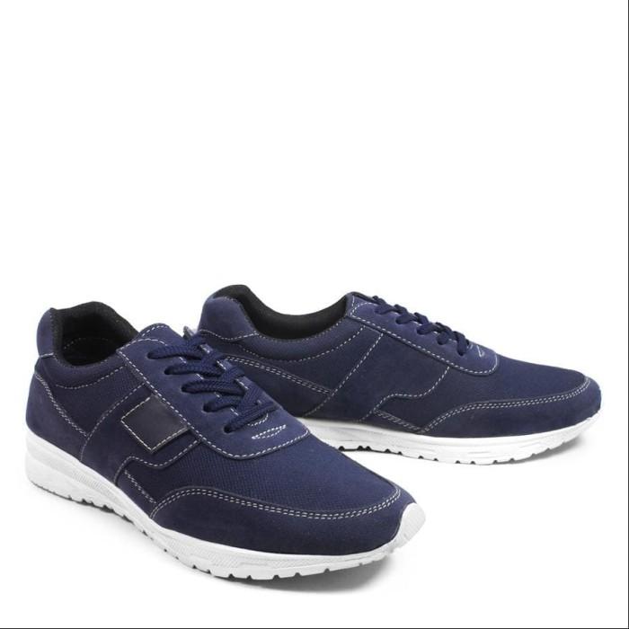 Foto Produk Walkers Sanji Navy Sepatu Pria Casual Sneakers Kets Sport Santai Murah dari Toko Sepatu Atang