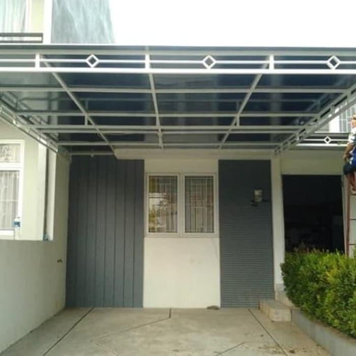 Gambar Kanopi Kayu Minimalis jual canopy atap rumah minimalis murah kanopi alderon kota tangerang selatan deden interior exterior tokopedia