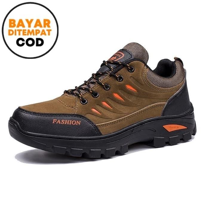 Foto Produk Techdoo Sepatu Outdoor Sepatu Hiking Olah Raga Pria Shoes SP101 - Cokelat, 40 dari Techdoo