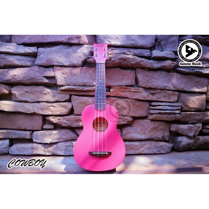 harga Ukulele cowboy soprano premium 21'' pink motif dolphin Tokopedia.com