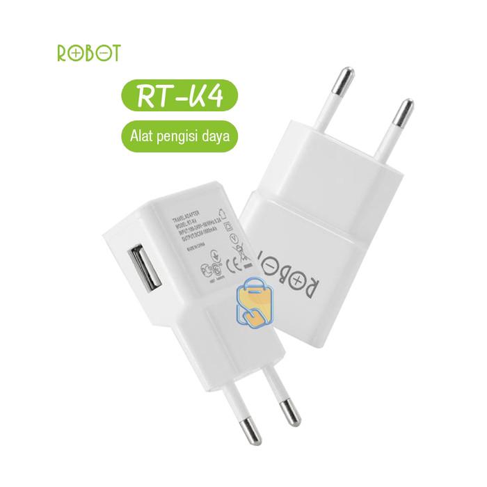 Foto Produk Robot RTK4 RT-K4 Adapter Kepala Charger USB DC5V /1A USB Port Original - Putih dari NYATACELL