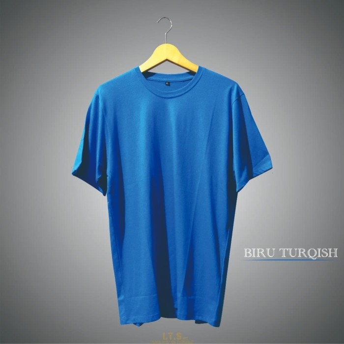 Jual Kaos Biru Turkies Solid Pendek Turquoise S Kab Garut Its Art Tokopedia