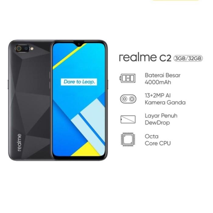 harga Realme c2 3+32gb (layar penuh dewdrop kamera ganda 13mp+2mp) Tokopedia.com
