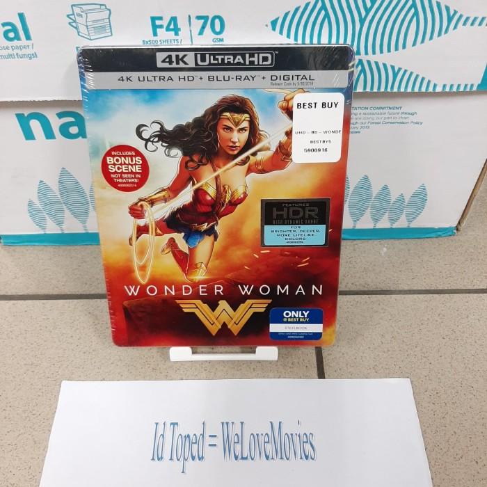 Jual Blu Ray Wonder Woman 4k Ultra Hd Steelbook Best Buy Usa Kota Medan Welovemovies Tokopedia