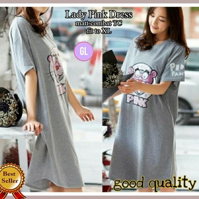 Foto Produk Good lady pink dress/midi dress/dress santai/baju wanita/gl60451 dari Glory Purple Shop