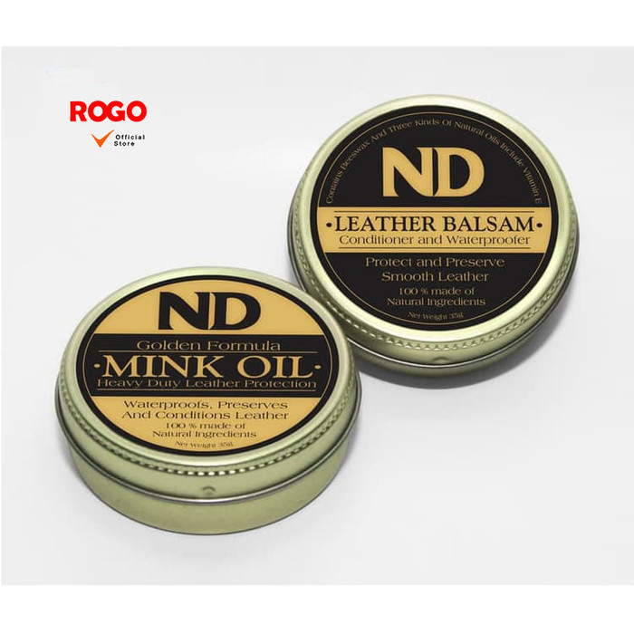Foto Produk Paket ND Leather Balsam & ND Golden Mink Oil Free Spons dari Rogo Official Store