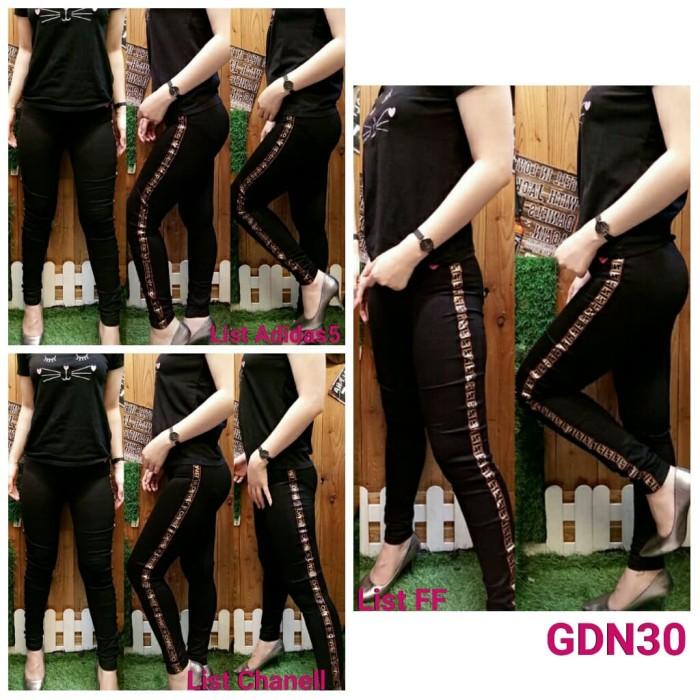 Jual Gdn30 Celana Legging Hitam List Ff Chanell Adidass Masa Kini Ff List Kota Pekalongan Model Baju Modernku Tokopedia