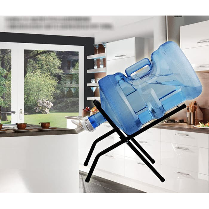 harga Kaki/rak galon/dudukan galon/dispenser galon air stainless steel+kran Tokopedia.com