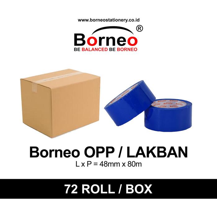 harga 72 roll - borneo opp/lakban warna (48mm x 80m) - biru Tokopedia.com