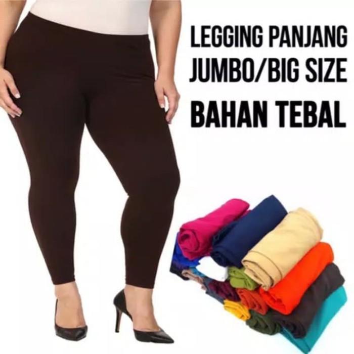 Jual Celana Legging Polos Jumbo Bahan Spandex Licin Kota Depok Serumpun Jaya Distro Tokopedia