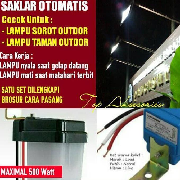 Jual Hot Sale Saklar Otomatis Untuk Lampu Sorot Taman Terjarmin Jakarta Barat Benysyafri Tokopedia