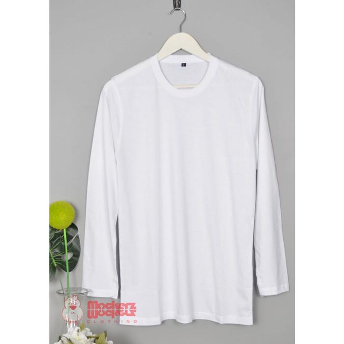 Jual Kaos Polos Lengan Panjang Warna Putih S Kota Makassar Kaos Mockerzclothing Tokopedia