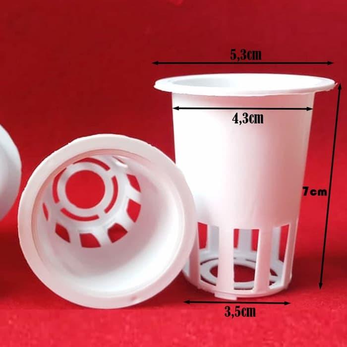 Foto Produk Grosir Netpot / Net Pot Putih 7cm 100 pcs dari Aneka Hidroponik