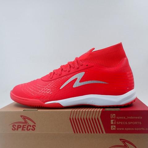 Promo Sepatu Futsal Specs Accelerator Illuzion Ii In Red Silver